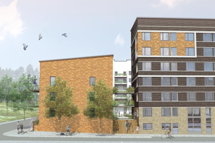 Kista Äng, flerbostadshus detaljplan Stockholm 0