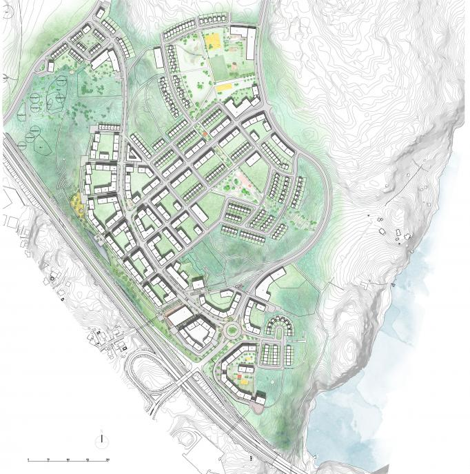 Rankhus, stadsplanering detaljplan Kungsängen Upplands-Bro 5