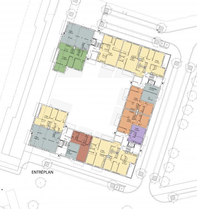 Kuttern, flerbostadshus Östra kanalstaden Åkersberga 1