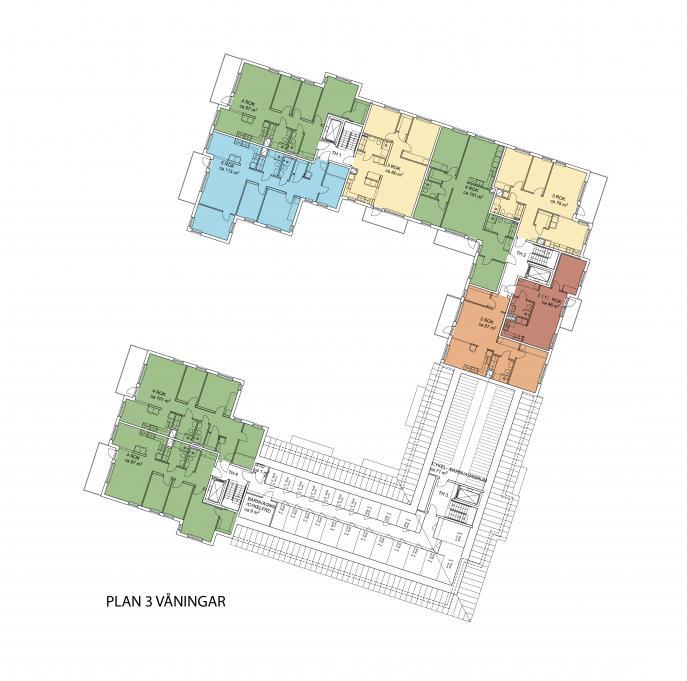 Kuttern, flerbostadshus Östra kanalstaden Åkersberga 0