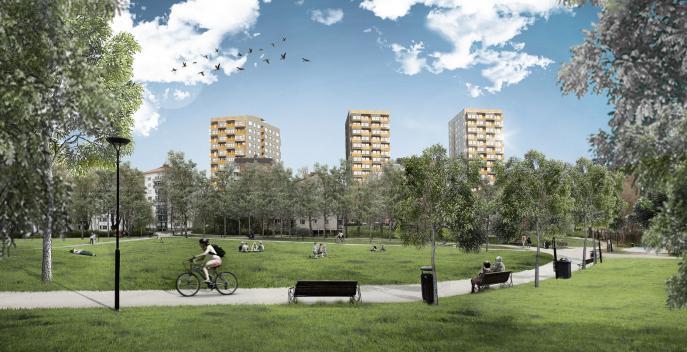 Sjödalsbacken, flerbostadshus med förskola och LSS-boende Huddinge 0