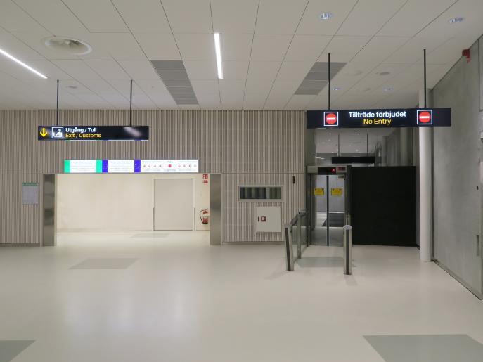 Bromma ny ankomsthall, flygplats Stockholm 11
