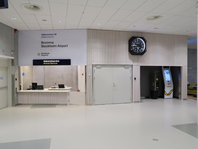 Bromma ny ankomsthall, flygplats Stockholm 10