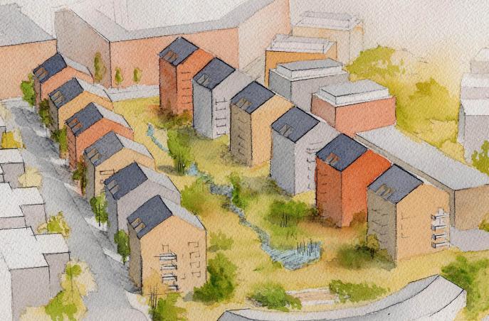 Befästningskullen, flerbostadshus Solna 4
