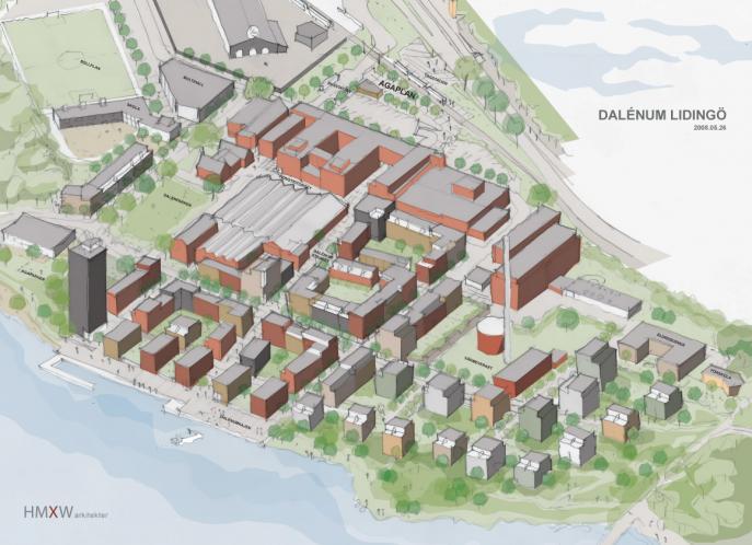 Dalenum, flerbostadshus och gestaltningsprogram Lidingö 3